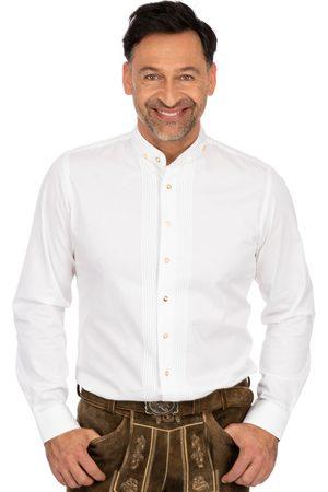 Almsach Herren Trachtenhemden - Hemd Stehkragen LF181