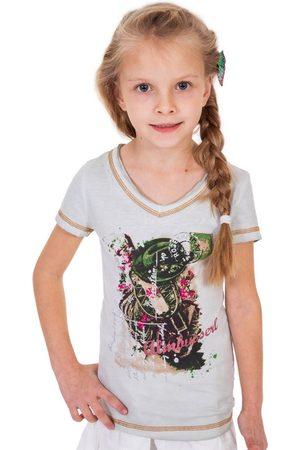 MARJO Kinder Trachtenblusen - Trachten Kinder T-Shirt K06 ALMBUSSERL KIDS natur