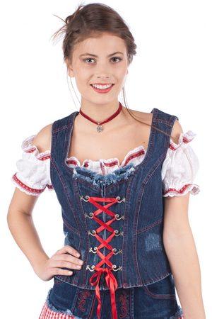 KRÜGER Damen Trachtenmieder - Trachtenmieder blue denim