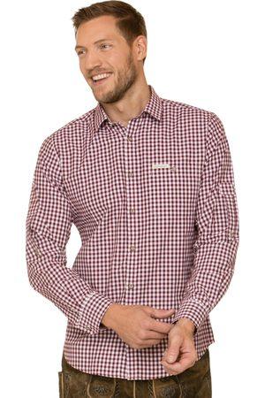 Stockerpoint Herren Trachtenhemden - Trachtenhemd CAMPOS3 bordeaux Langarm