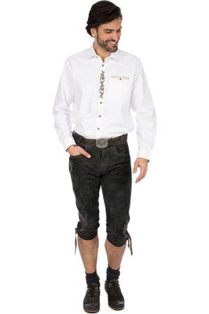 Stockerpoint Herren Lederhosen - Lederhose kniebund SIGMAR4 graphit geäscht