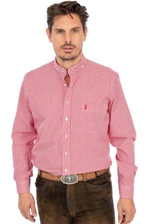 Almsach Herren Trachtenhemden - Hemd Stehkragen 760CO