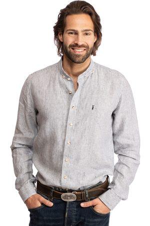 Almsach Herren Trachtenhemden - Hemd Stehkragen 901LI anthrazit