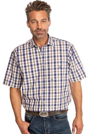 OS-TRACHTEN Herren Trachtenhemden - Karo Kurzarmhemd FENZLAU blau