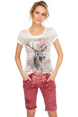 hangOwear Damen Bermuda Shorts - Jeans Bermuda OVIDA weinrot