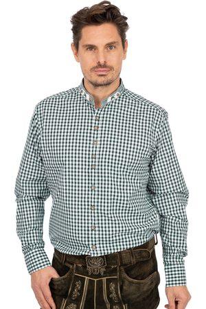 OS-TRACHTEN Herren Trachtenhemden - Stehkragenhemd DORIAN tanne
