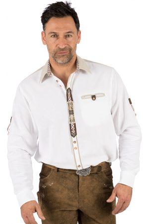 OS-TRACHTEN Herren Trachtenhemden - Trachtenhemd LUCA weiss