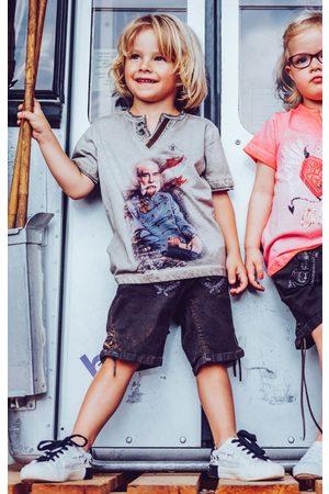 hangOwear Kinder Trachtenblusen - Trachten Kinder T-Shirt FRANZ Kids beige