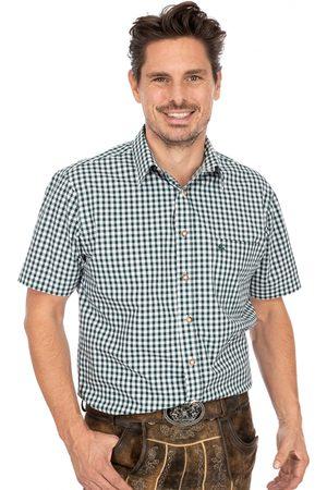 OS-TRACHTEN Herren Trachtenhemden - Karo Kurzarmhemd ALZACH tanne