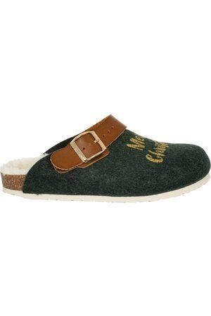 Genuins Damen Hausschuhe - Pantoffel G101388 SHETLAND Xmas green