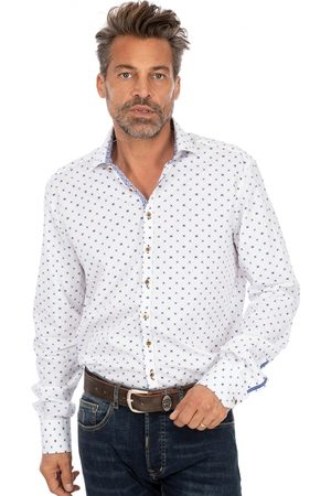 OS-TRACHTEN Herren Trachtenhemden - Trachtenhemd SONNBLICK weiss blau