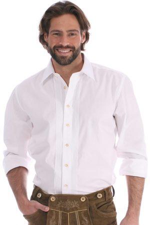 Almsach Herren Trachtenhemden - Trachtenhemd Klassiker ASCAN Hemdkragen weiss