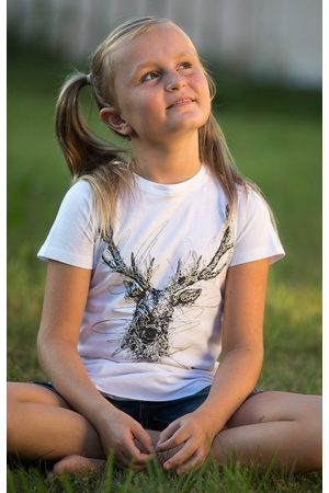 MARJO Kinder Trachtenblusen - Trachten Kinder T-Shirt W33 TRIXI KIDS