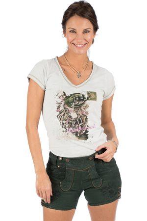 hangOwear Damen Trachtenhosen - Trachten Damen Short OVIDA tannengrün
