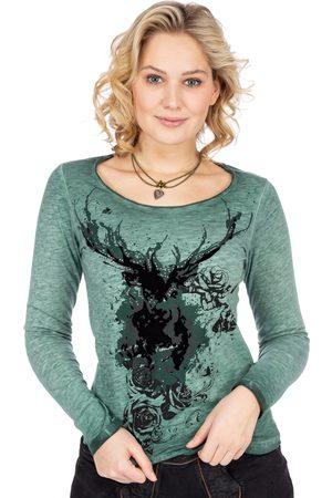 hangOwear Damen Longsleeves - Langarmshirt HANNEROSE dunkelgrün
