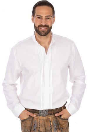 OS-TRACHTEN Herren Trachtenhemden - Trachtenhemd MARIUS Pfoad weiss