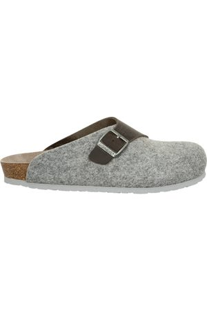 Genuins Herren Hausschuhe - Pantoffeln G101559 BRANCO hellgrau