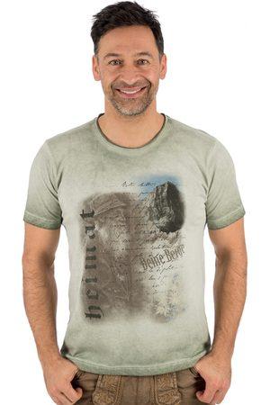 OS-TRACHTEN Herren Trachtenshirts - Trachten T-Shirt FYNN hellgrün