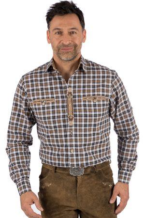 OS-TRACHTEN Herren Trachtenhemden - Trachtenhemd karo HOCHFICHT braun