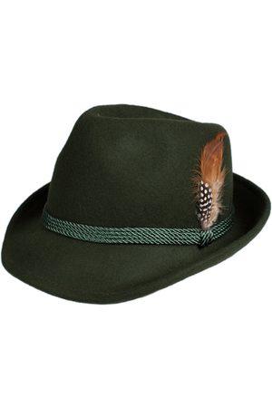 Schuhmacher Damen Hüte - Trachtenhut HT750 tanne mit Feder