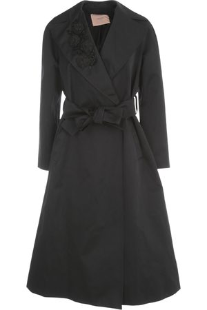 Twin-Set Long Embroidered Trench W/belt , Damen, Größe: 44 IT