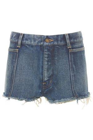 Saint Laurent Damen Shorts - Minishorts Aus Baumwolldenim