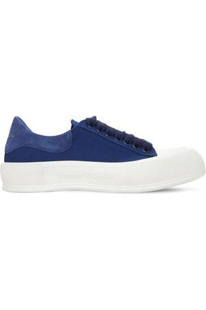 Alexander McQueen Damen Sneakers - 45mm Hohe Sneakers Aus Wildleder & Baumwollcanvas