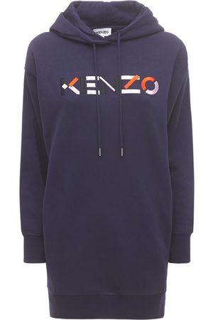 Kenzo Kleid Aus Baumwollfleece Mit Logo
