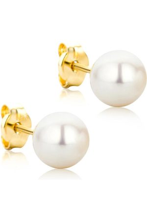 DIAMADA Ohrringe 14KT Pearl Earring Yellow Gold gelbgold