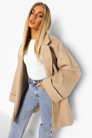 Boohoo Damen Bomberjacken - Womens Jacke In Wolloptik Und Übergröße Mit Weiten Ärmeln - - 32