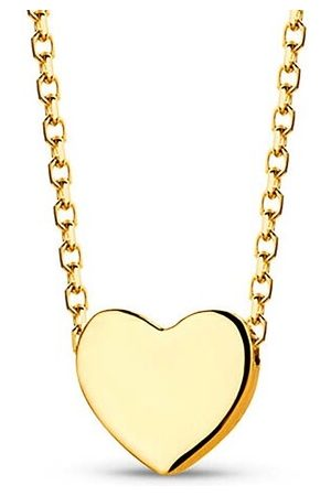 DIAMADA Halskette Heart Necklace 18KT Yellow gelbgold