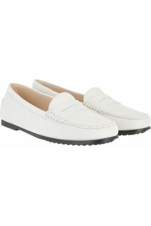 Tod's Schuhe Gommino Loafers Nubuck White weiß