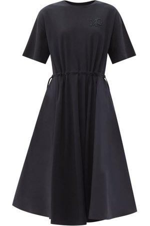 Moncler Shell-panel Cotton-jersey Dress