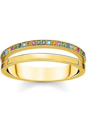 Thomas Sabo Ring Ring Colored Stones Bicolor gelbgold