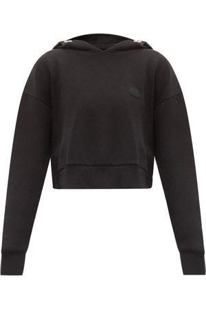 Moncler Logo-print Cotton-blend Cropped Hooded Sweatshirt