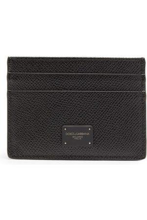 Dolce & Gabbana Logo-print Grained-leather Cardholder