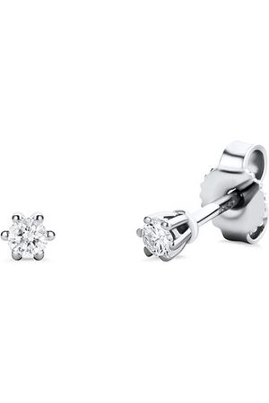 DIAMADA Ohrringe 0.12ct Diamond Earring 14KT White Gold weißgold