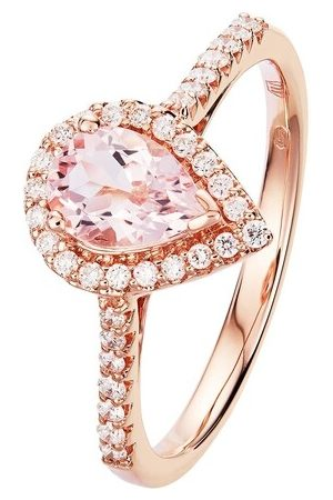 BELORO Ring 0,71ct Morganite with 0,23ct Diamond Ring rosa