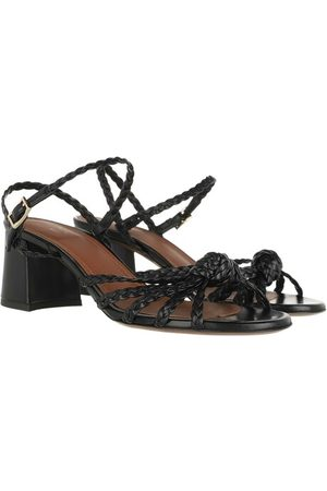 L'Autre Chose Sandalen Heel Sandals Lamb Leather Black schwarz