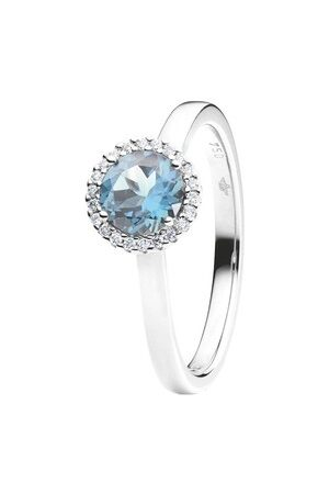 Capolavoro Ring Ring Espressivo Topas Sky Blue Faceted White Gold weißgold