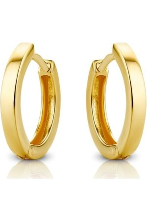 DIAMADA Damen Uhren - Ohrringe 14KT Creole Earring Yellow Gold gelbgold