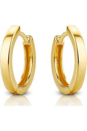 DIAMADA Damen Uhren - Ohrringe 14KT Creole Earring Yellow Gold gelbgold
