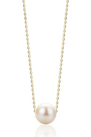 DIAMADA Halskette 14KT Pearl Necklace Yellow Gold gelbgold