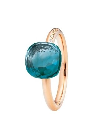 Capolavoro Ring Ring Happy Holi Topas London Blue Cabochon Rosegold roségold