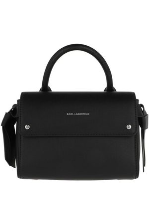 Karl Lagerfeld Satchel Bag Karl Ikon Mini Top Handle Bag Black