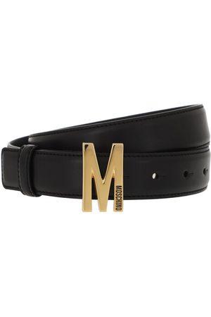 Moschino Gürtel Matt Leather Belt Black