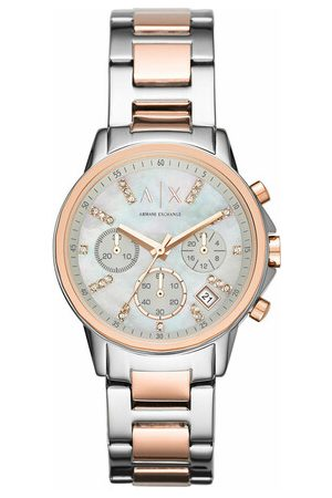Armani Uhr AX4331 Ladies Lady Banks Watch Silver/Roségold silber