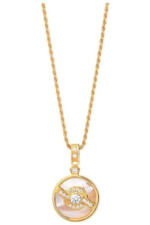 V by Laura Vann Halskette Edie Pendant with Pearl Yellow Gold gelbgold