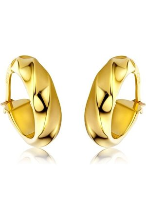 DIAMADA Ohrringe Creole Earring 14KT Yellow Gold gelbgold