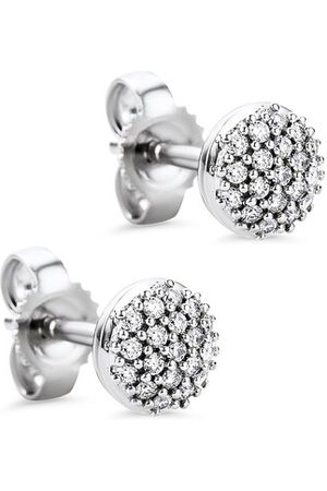 DIAMADA Ohrringe 0.15ct Diamond Stud Earring 18KT White Gold weißgold